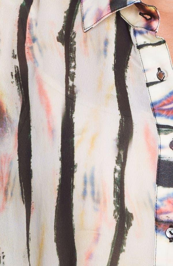 Alternate Image 3  - Nicole Miller Sheer Print Chiffon Blouse