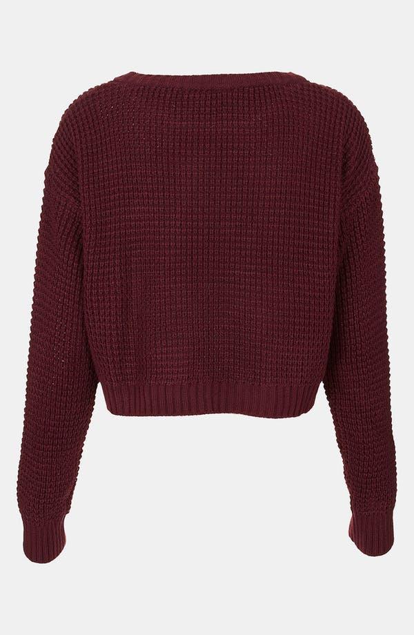 Alternate Image 2  - Topshop 'A' Crop Letter Sweater