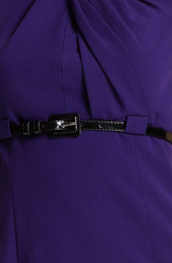 Alternate Image 3  - Calvin Klein Twist Neck Belted Sheath Dress (Petite)