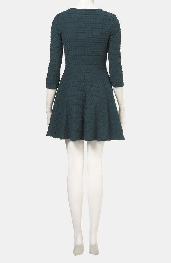 Alternate Image 2  - Topshop Textured Skater Dress