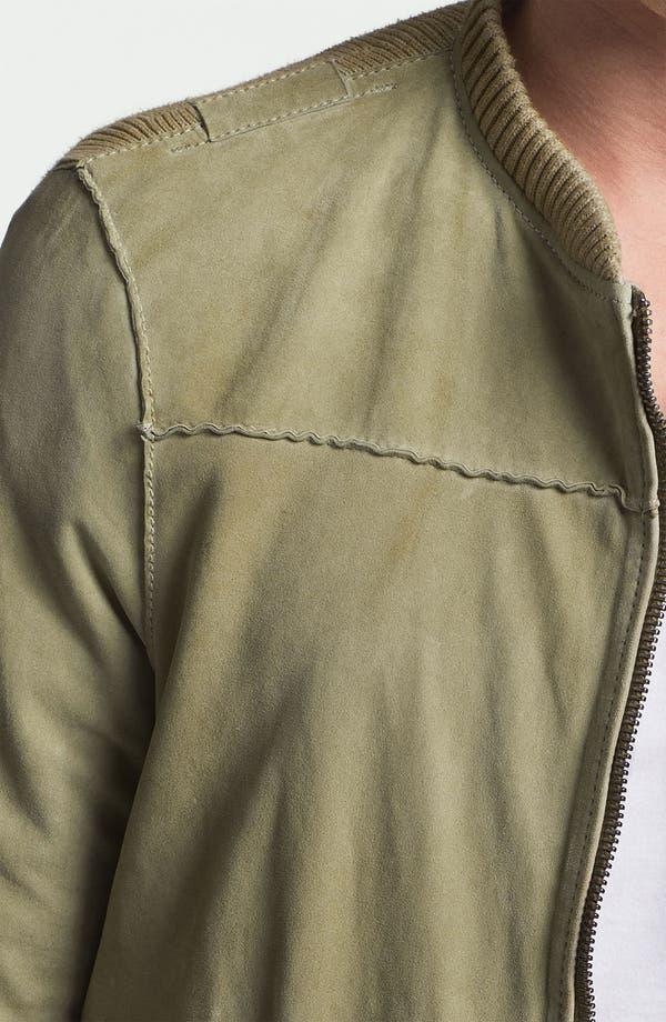 Alternate Image 3  - DIESEL® 'Lisko' Lamb Leather Knit Jacket