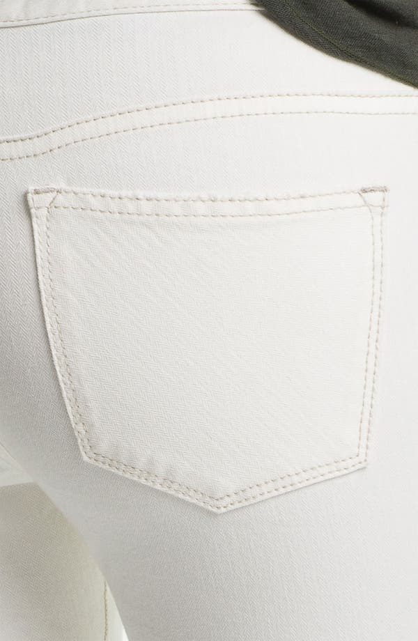 Alternate Image 3  - Free People Crop Stretch Denim Skinny Jeans (White)