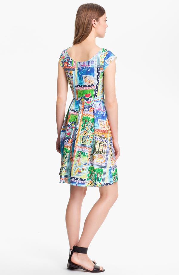 Alternate Image 2  - kate spade new york 'mariella' stretch cotton fit & flare dress