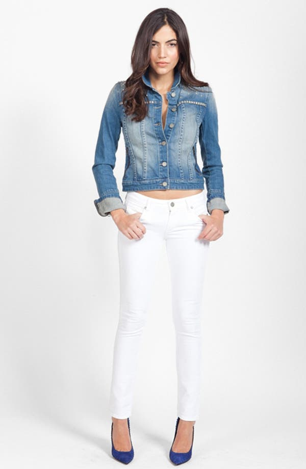 Alternate Image 4  - PAIGE 'Skyline' Ankle Peg Skinny Jeans (Optic White)