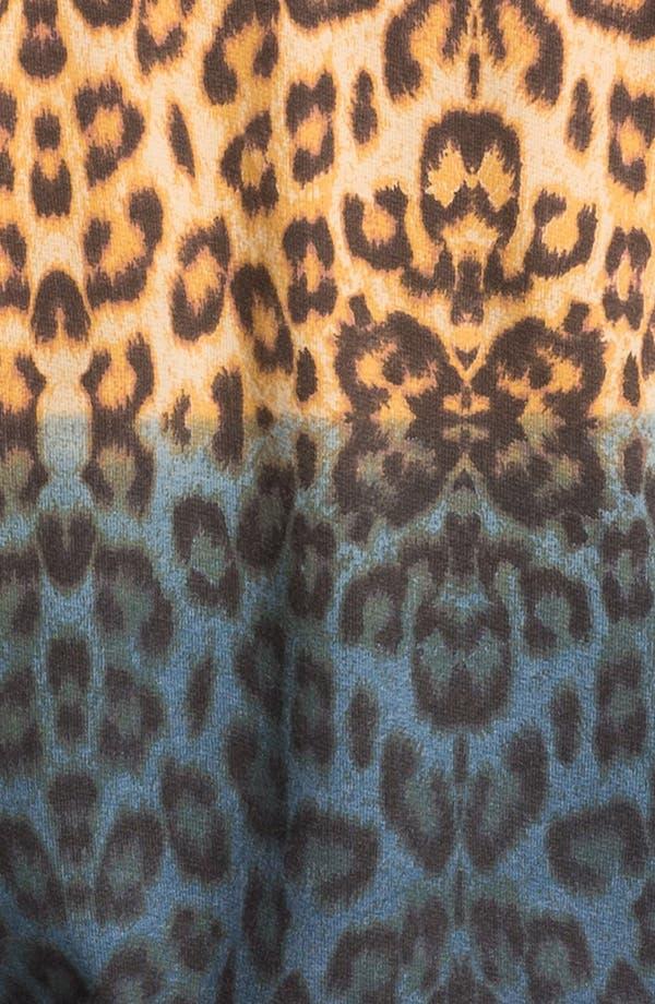 Alternate Image 3  - Topman Dip Dye Leopard Print Zip Hoodie