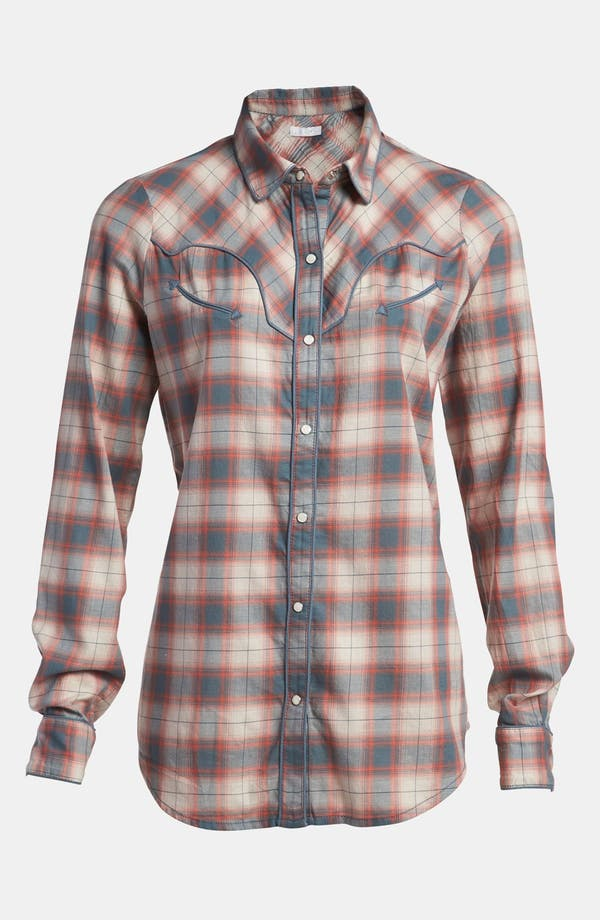 Main Image - Leith Plaid Piped Western Shirt