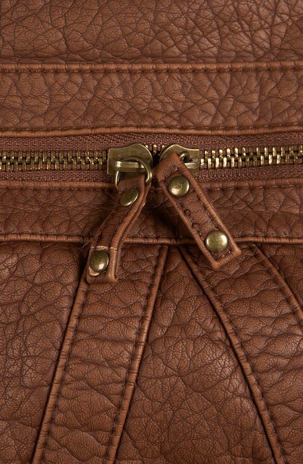 Alternate Image 4  - Topshop Multi Zip Faux Leather Backpack
