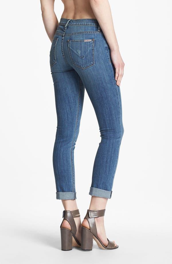 Alternate Image 2  - Hudson Jeans Midrise Cuff Straight Leg Jeans (Vintage Napoli)