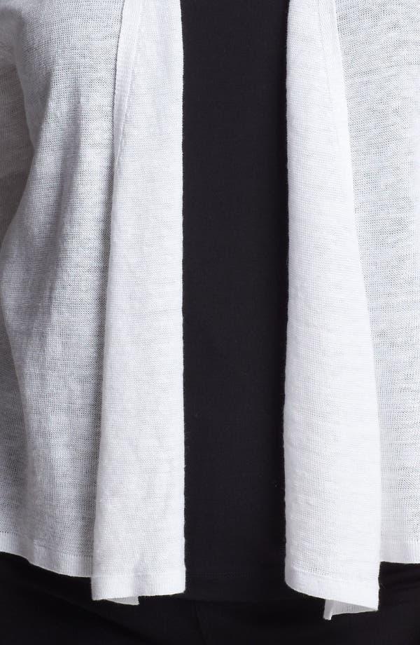 Alternate Image 3  - Eileen Fisher Elbow Sleeve Linen Cardigan (Plus Size)