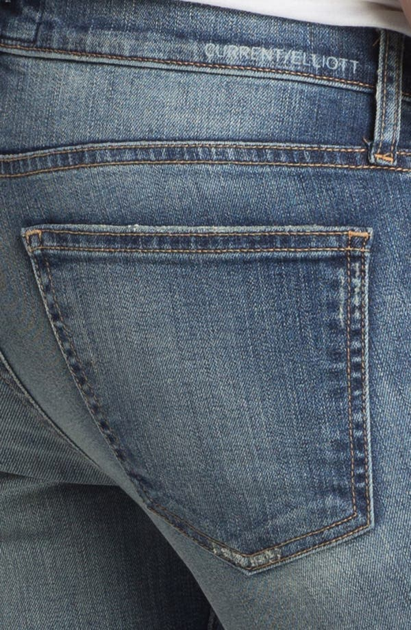 Alternate Image 4  - Current/Elliott 'The Ankle' Skinny Jeans (Pixie with Repair)