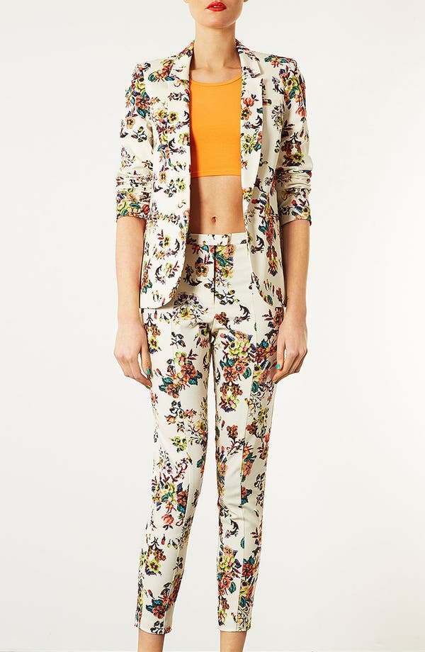 Alternate Image 4  - Topshop Pixelated Floral High Waist Pants