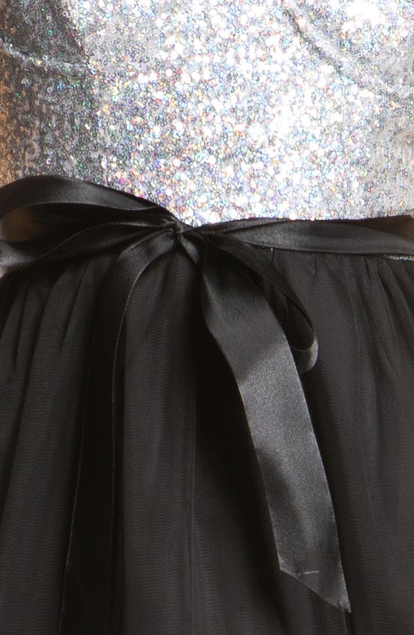 Alternate Image 3  - As U Wish Sequin Bustier Skater Dress (Juniors)