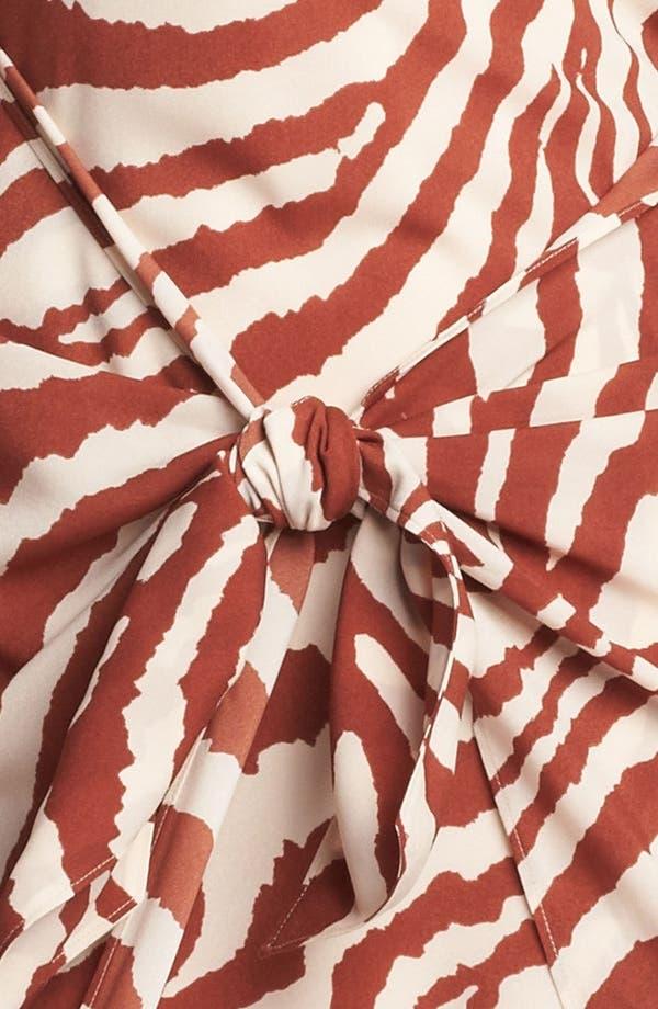 Alternate Image 3  - Anne Klein Animal Stripe Sarong Dress (Petite)