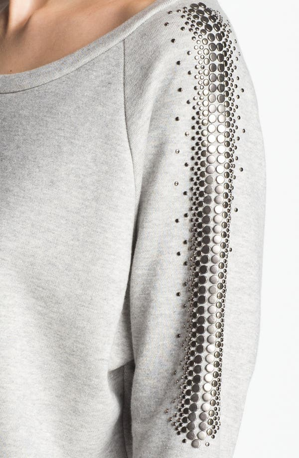 Alternate Image 6  - Haute Hippie Studded French Terry Sweatshirt