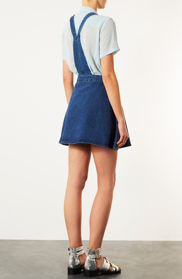Alternate Image 2  - Topshop Moto 'Annie' Denim Dress