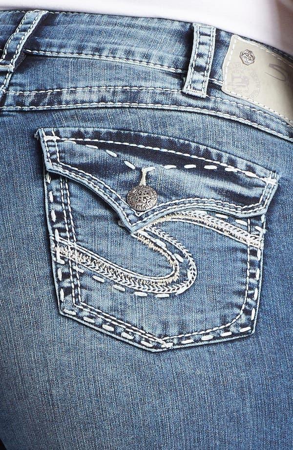Alternate Image 3  - Silver Jeans Co. 'McKenzie' Denim Shorts (Juniors Plus)
