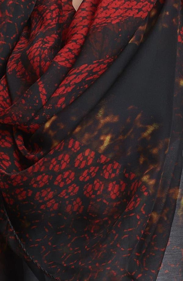 Alternate Image 2  - Alexander McQueen 'God Save McQueen' Silk Chiffon Scarf
