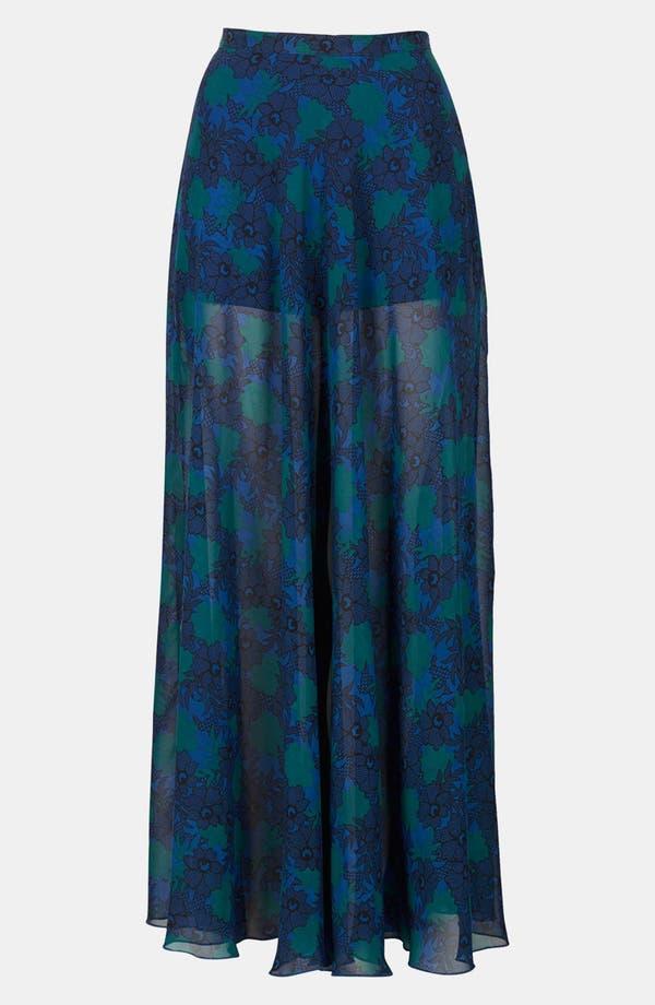 Alternate Image 3  - Topshop Lace Print Maxi Skirt