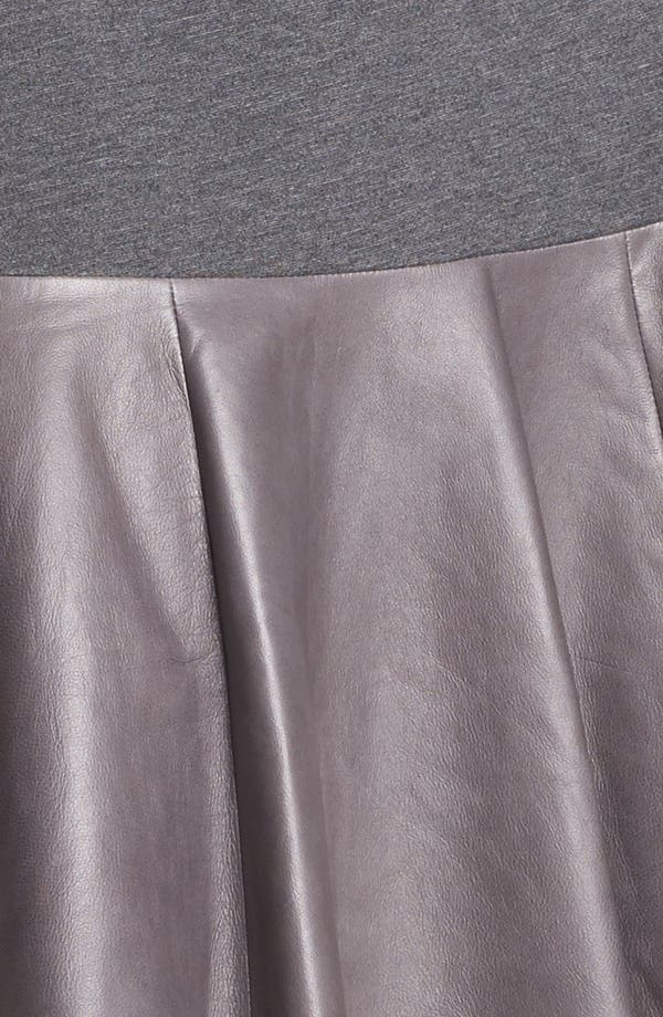Alternate Image 3  - Hinge® Leather Panel Peplum Skirt