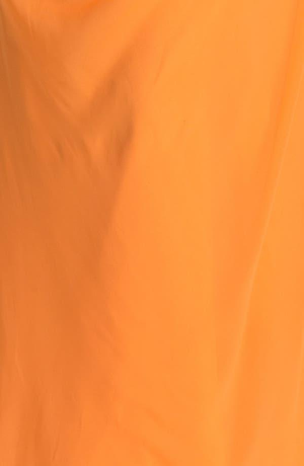 Alternate Image 3  - Dalia MacPhee Gathered One Shoulder Gown (Juniors Plus)