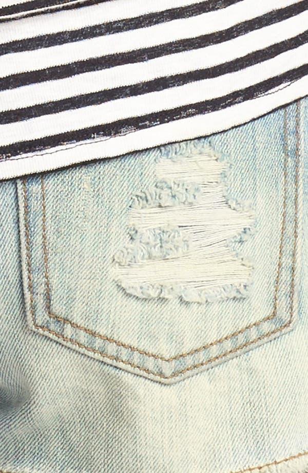 Alternate Image 3  - Blu Pepper Studded Denim Shorts (Juniors) (Online Only)