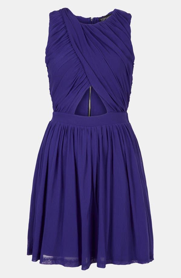 Main Image - Topshop Ruched Wrap Bodice Skater Dress