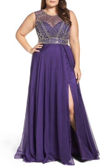 Mac Duggal Embellished Ballgown (Plus Size)