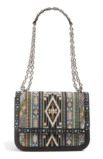 Chelsea28 Dahlia Embroidered Faux Leather Crossbody Bag