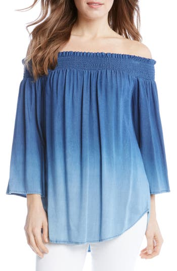 Karen Kane Off the Shoulder Ombré Top