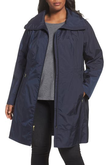 Cole Haan Signature Water-Resistant Packable Hooded Anorak (Plus Size)