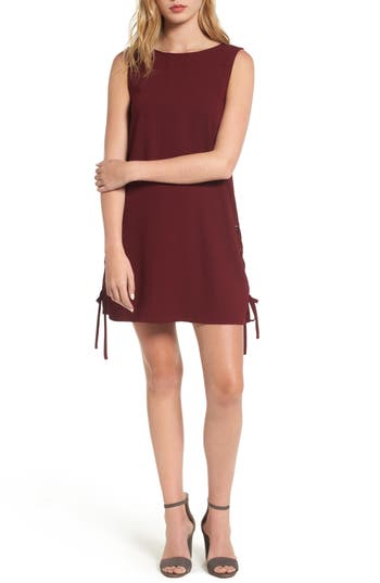 cupcakes and cashmere Timberly Lace-Up Shift Dress