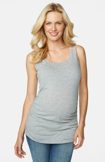 Maternal America Ruched Maternity/Nursing Tank Top