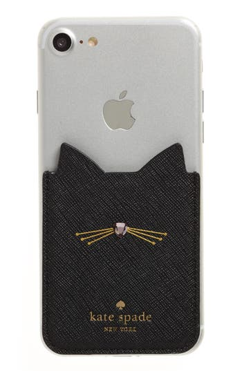kate spade iphone case kate spade new york cat iphone 7 8 sticker pocket nordstrom 15594