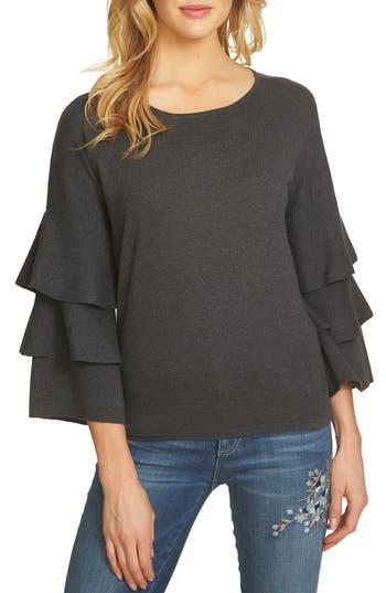 CeCe Ruffle Sleeve Sweater