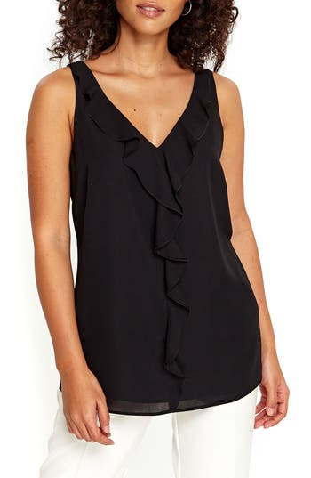 Wallis V-Neck Ruffle Tank ..