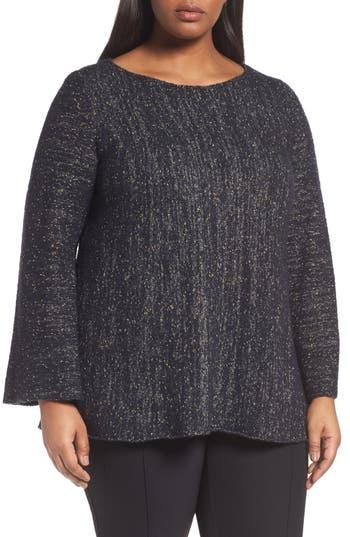 Lafayette 148 Metallic Knit A-Line Sweater (Plus Size)