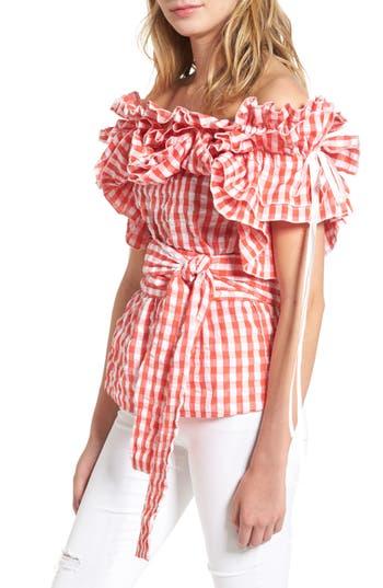 StyleKeepers Sangria Off the Shoulder Top