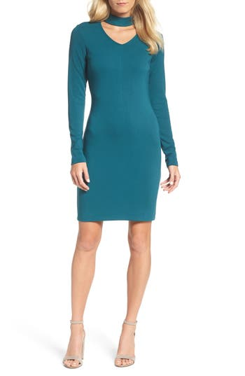 Forest Lily Choker Body-Con Dress