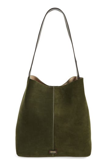 Frances Valentine Large Suede Shoulder Tote