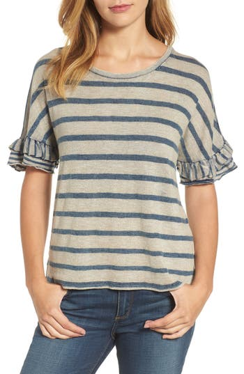 Lucky Brand Mixed Stripe Ruffl..