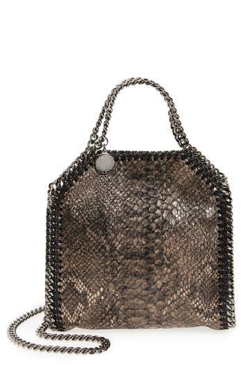 Stella McCartney Tiny Falabella Python Print Faux Leather Shoulder Bag
