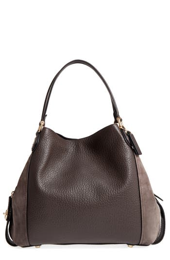 COACH Edie 42 Leather & Su..
