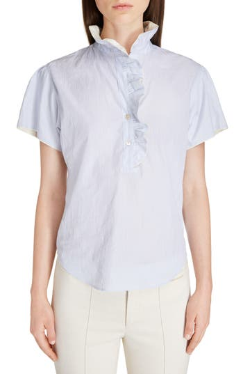 Isabel Marant Jen Ruffle Cotton Top
