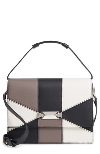 Max Mara Patchwork Butterfly Calfskin Leather Top Handle Satchel