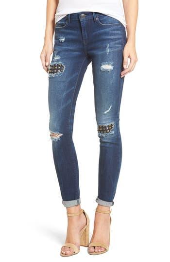 True Religion Brand Jeans Halle Super Skinny Jeans (Mended Metal Wash)