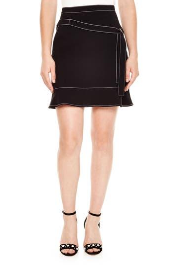 sandro Bakene Topstitch Belted Skirt