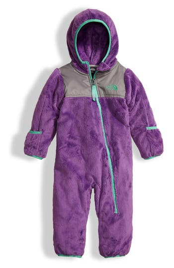 The North Face Oso Hooded Fleece Romper Baby Girls -3560