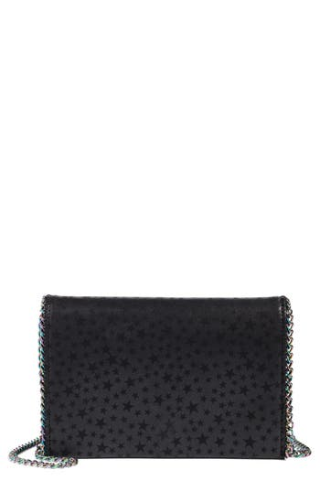 Chelsea28 Mini Stars Chain Faux Leather Clutch