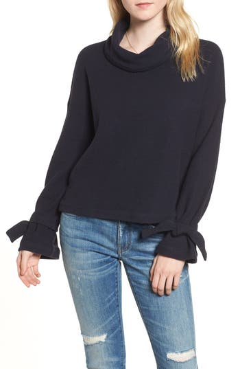 Madewell Mock Neck Tie Cuff Top