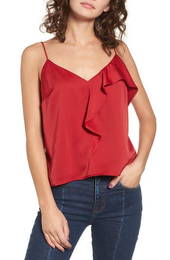 Ruffle Front Camisole Top